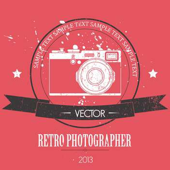 retro camera with vintage background - vector gratuit #127893