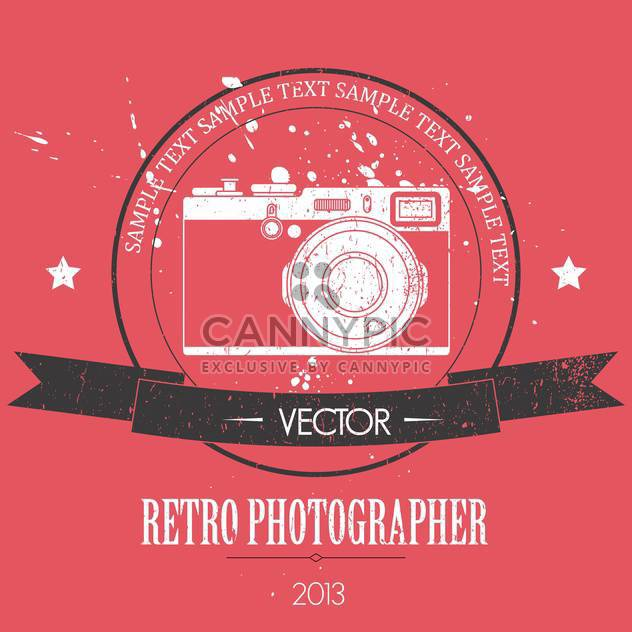 retro camera with vintage background - Free vector #127893