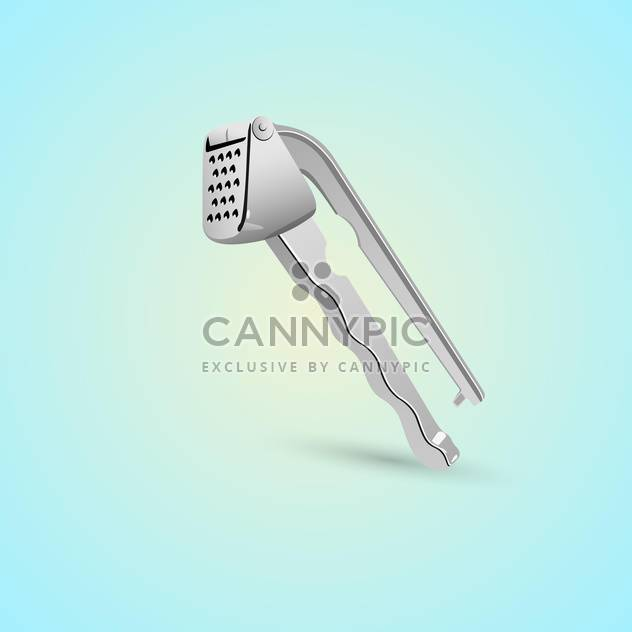 kitchen tool for cleaning garlic on blue background - Free vector #127903
