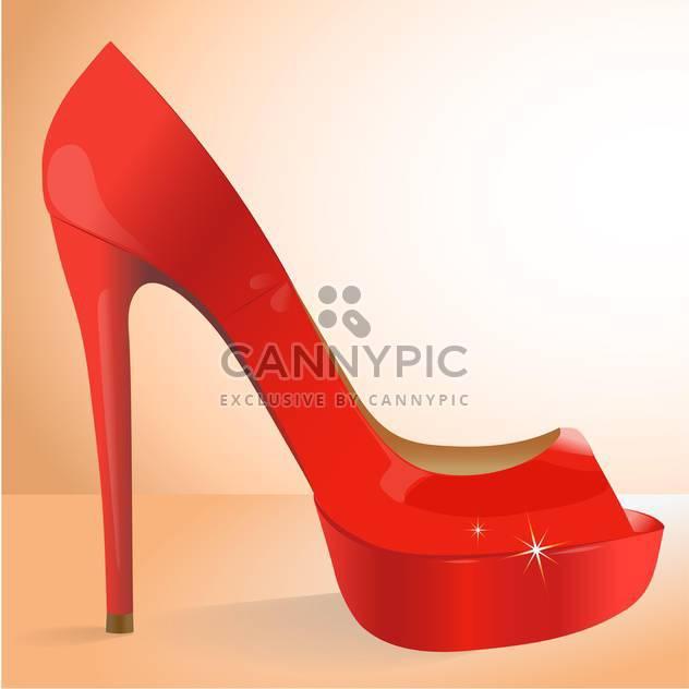 Vektor-Illustration der weibliche rote Schuh - Kostenloses vector #127923