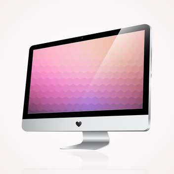 computer display on white background - vector gratuit #127943