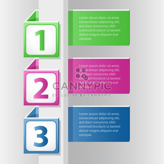 vector illustration of color labels with numbers - Free vector #127983