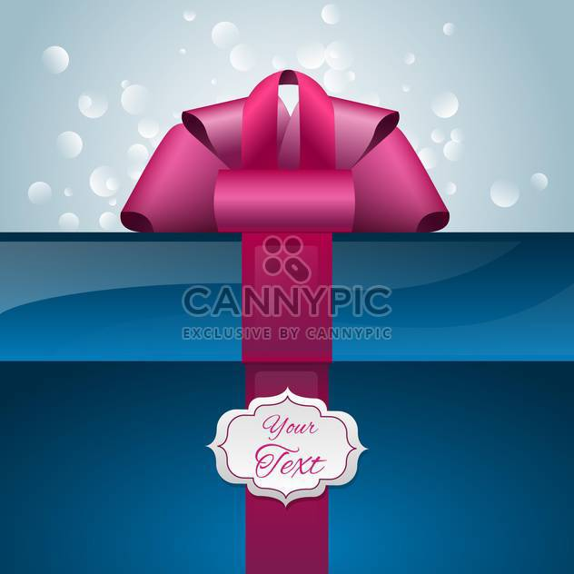 Vector gift box with ribbon and text place - Free vector #128073