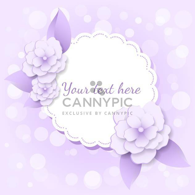 vector frame with violet flowers and colorful - Free vector #128083