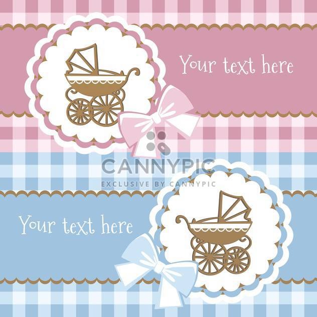 colorful illustration of baby announcement card - Free vector #128113