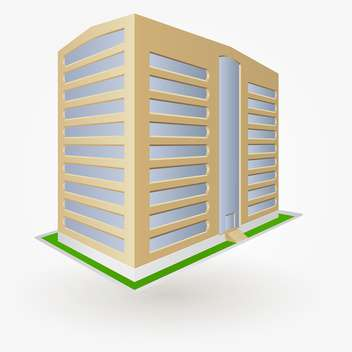 Building vector illustration, isolated on white background - Free vector #128123