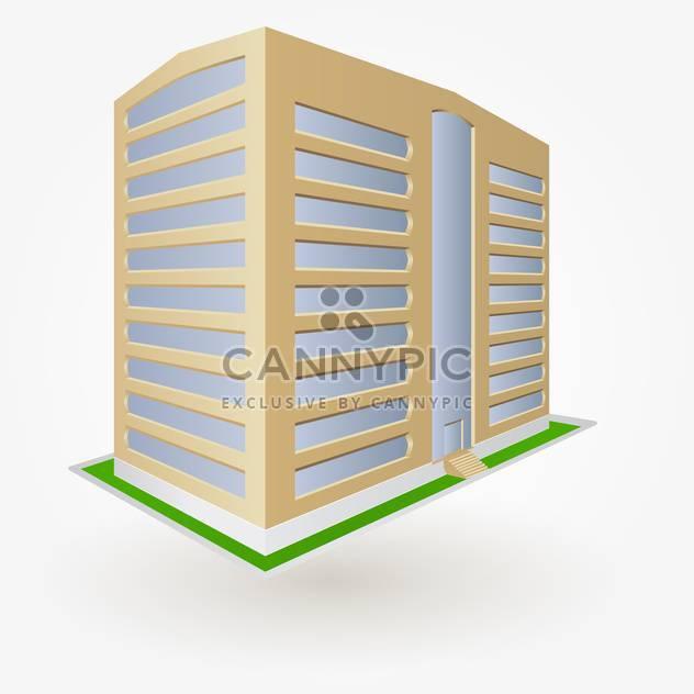 Gebäude-Vektor-Illustration, isoliert auf weißem Hintergrund - Free vector #128123