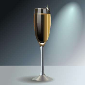 Glass with champagne, vector illustration - Free vector #128143
