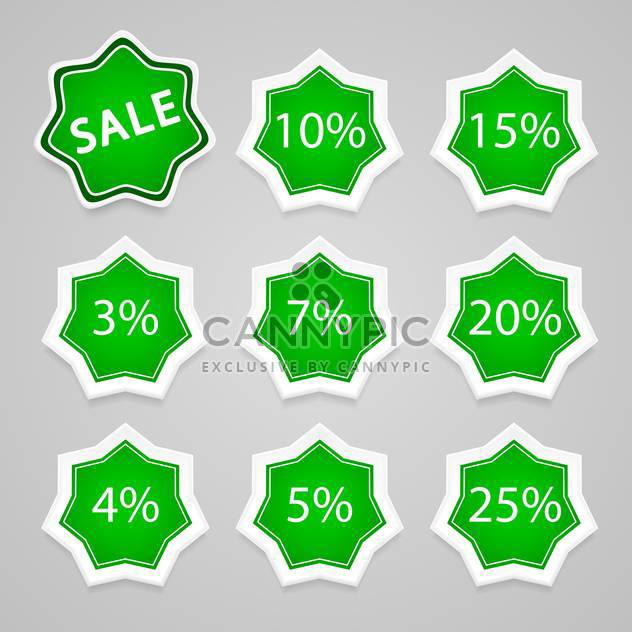 Set with sale stickers and labels, vector icons - Free vector #128223