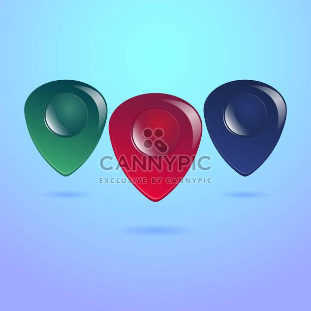 Guitar pick vector pack with shadows - Free vector #128233