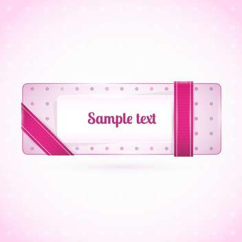 Vector pink button web element - Free vector #128403