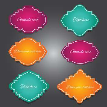 Vector set of vintage frames. - Free vector #128413