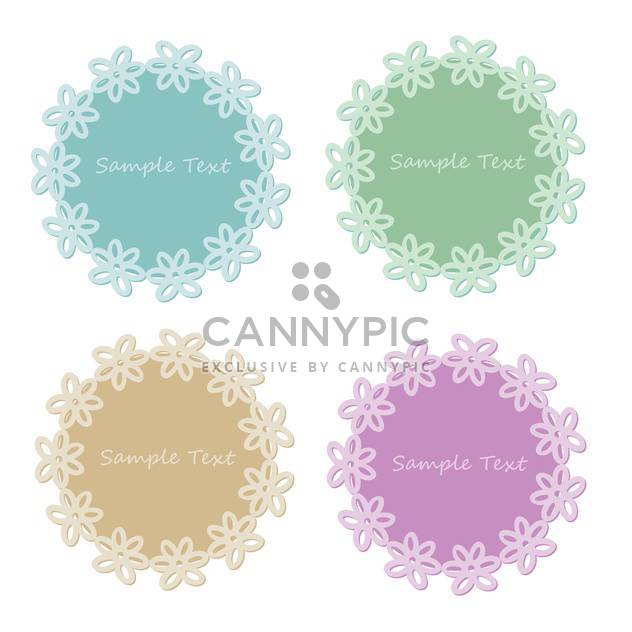 Vector set of lace frames with sample text - Free vector #128453