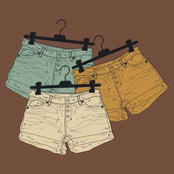Vector background with different shorts - vector gratuit(e) #128463