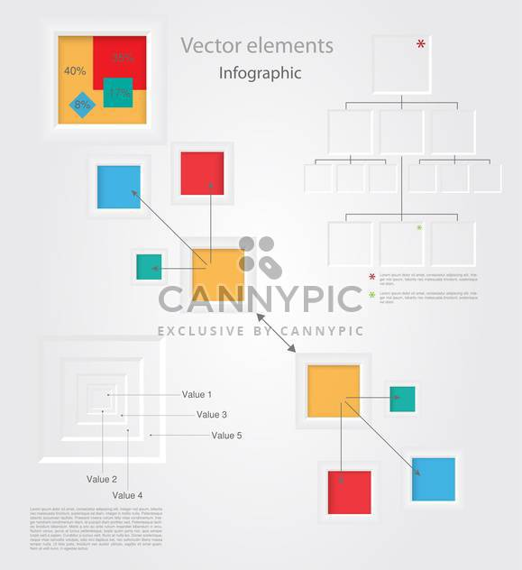 Vektor Gruppe Infographik Elemente - Kostenloses vector #128483