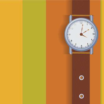 Vector illustration of hand watch - vector gratuit #128503