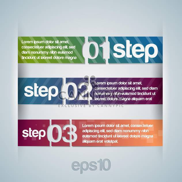 Vector illustration of numbered banners. - Free vector #128523