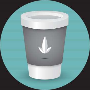 Takeaway coffee cup vector illustration - Free vector #128583