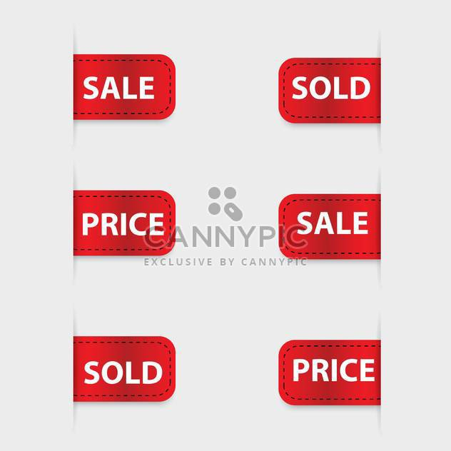 Vector set of red discount labels - Free vector #128623