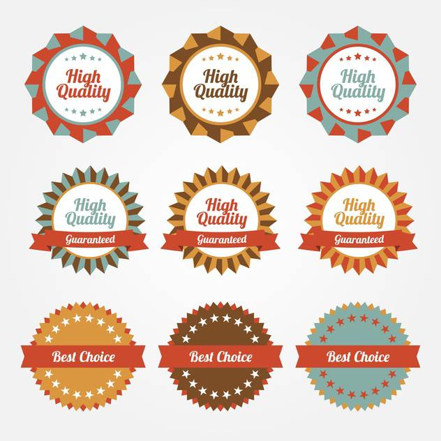 Set of vector stickers, badges, labels on sale theme - Free vector #128643
