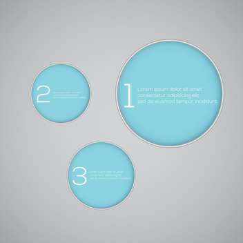 Vector blue numbered banners with information - vector gratuit #128683