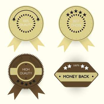 Vector set of stylish quality badges - Free vector #128693