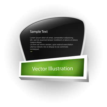 Vector banner with white sample text on black board - vector gratuit #128743