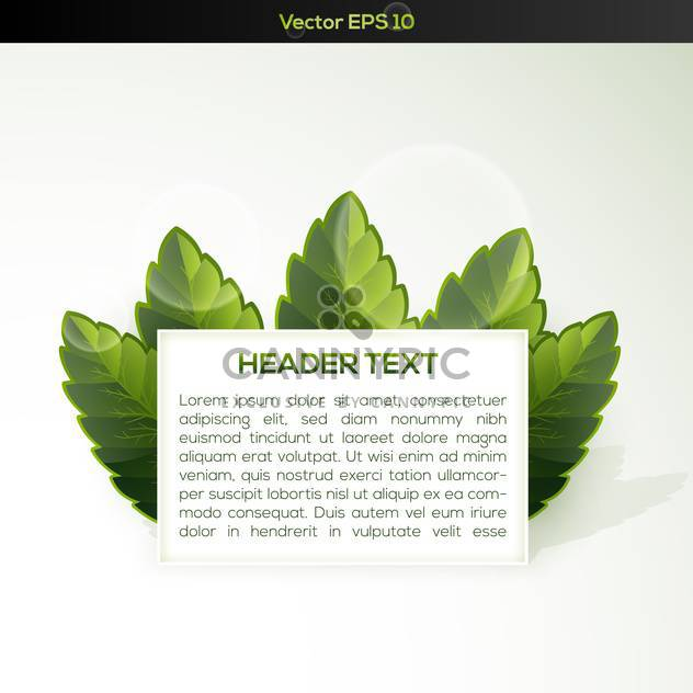 Vector banner with some green grass - Free vector #128773
