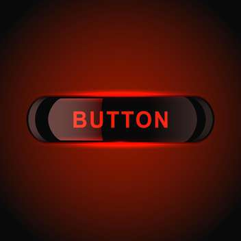 Red glowing vector button on red background - vector gratuit(e) #128783