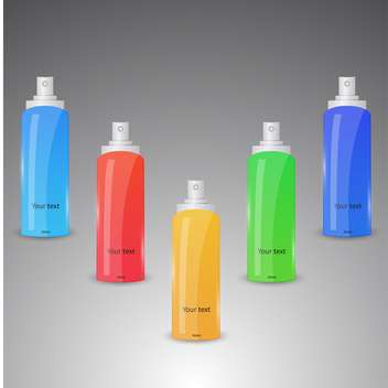 Vector set of colorful spray bottles - vector gratuit #128843