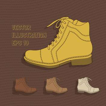 Vector background with brown shoes on brown background - vector gratuit #128863