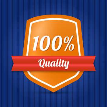 vector hundred quality shield - vector gratuit #128963