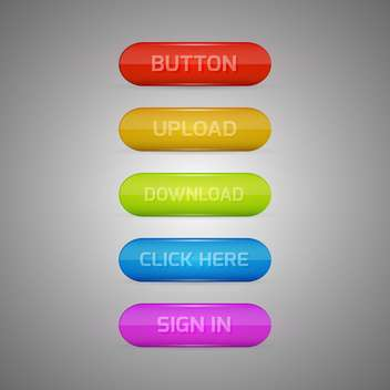 colorful web vector buttons - vector #128993 gratis