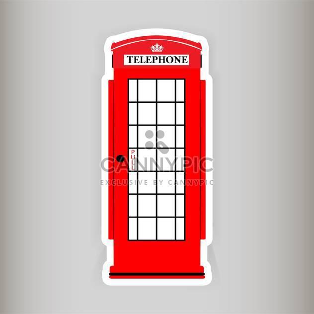 Telefonzelle-Vektor-illustration - Kostenloses vector #129003