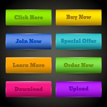 web elements buttons set - vector gratuit #129043