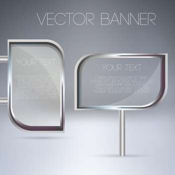 transparent glass banners set - Free vector #129053