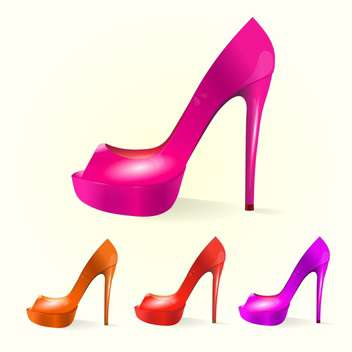 set of female vector shoes - Free vector #129093