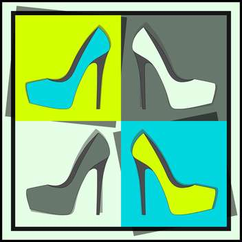 fashion female shoes set - vector gratuit #129143