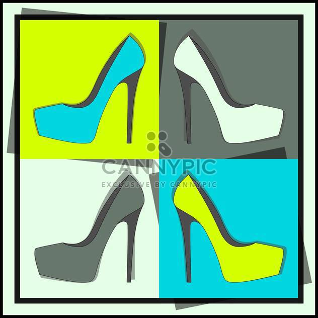 fashion female shoes set - Free vector #129143