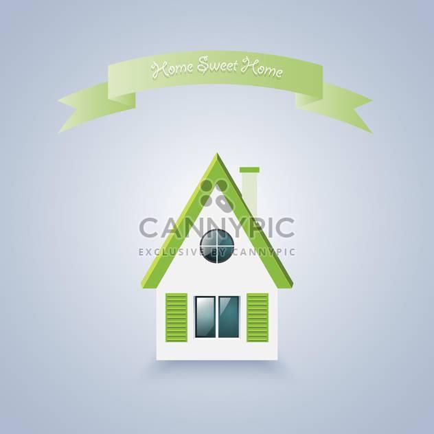 Zuhause süße Heimat Vektor-illustration - Kostenloses vector #129153