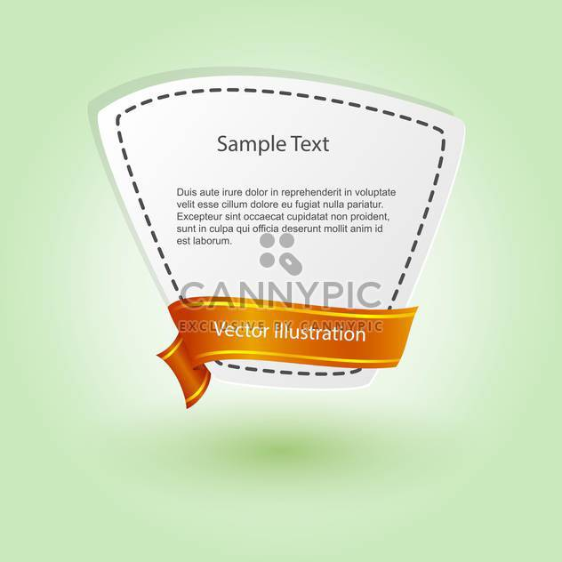 vector blank banner with ribbon - Free vector #129193