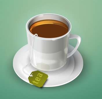 vector cup of tea illustration - vector gratuit #129213