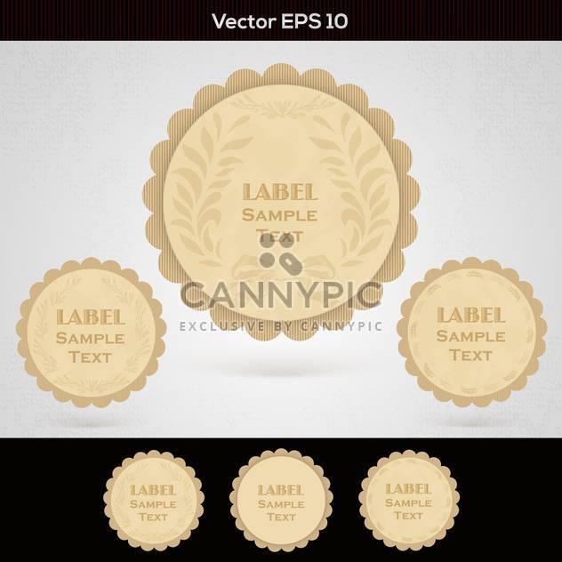 set of wooden vector labels - Free vector #129223