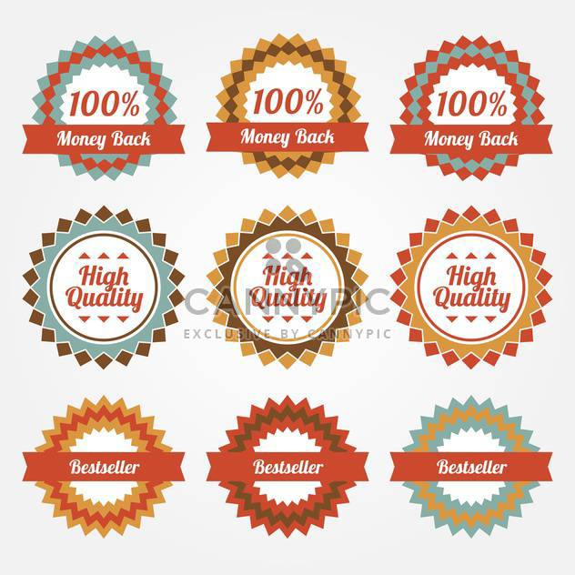 collection of sale badges and labels - Free vector #129233