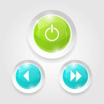 web switcher with next, previous player buttons - vector gratuit #129243