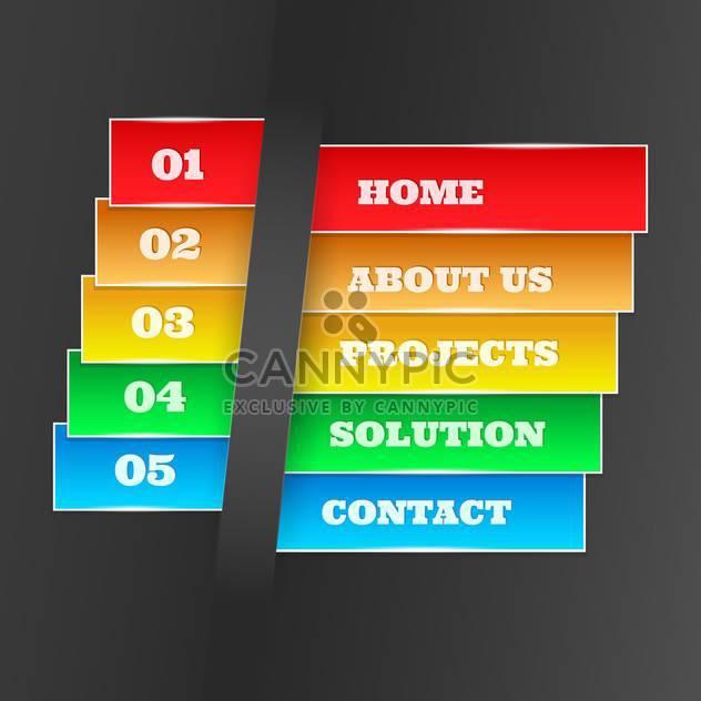 Vektor-bunte Webseite-Design-Elemente mit Zahlen - Kostenloses vector #129293