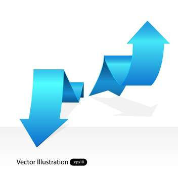 Vector blue arrow tags on white background - vector gratuit #129463