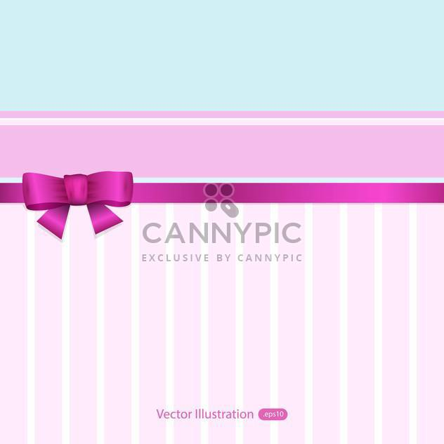 Vector pink and blue banner with ribbon and bow - Free vector #129473