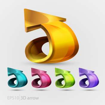 Vector collection of colorful arrows for web design - Free vector #129493