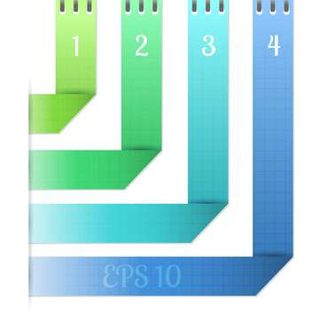 vector background of origami lines with numbers banner - Free vector #129553